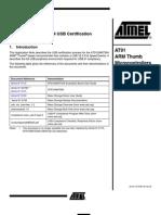 AT91SAM7S64 USB Certification