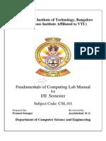 Csl101 Foc Lab Manual