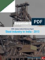 Steel Industry in India 2013 Report