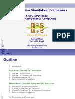 Multi2sim-m2s Simulation Framework
