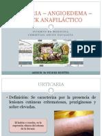 Urticaria – Angioedema – Shock Anafiláctico