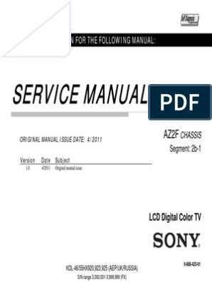 sony_kdl-46-55-hx920-hx923-hx925_az2chassis service manual