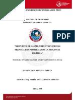 Tesis_respuesta de Las Mujeres Ayacuchans Frente a Los Problemas de La Vilencia Politica