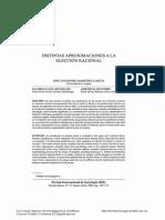 Distintas Aproximaciones a La Elección Racional (Martinez García, RIS, 2004) - Buen Resumen y Críticas