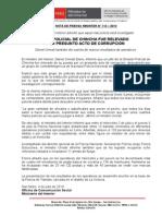 JEFE POLICIAL DE CHINCHA FUE RELEVADO  POR PRESUNTO ACTO DE CORRUPCIÓN