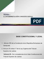 Tema - La Intepretacion Constitucional (1)