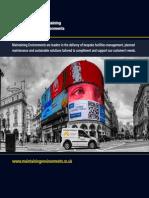 Maintaining Environments Ltd Brochure