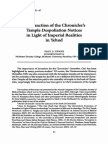 The Function of the Chrniclers Temple Despoliation Notices in Light of Imperial Realities in Yehud
