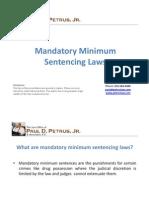 Mandatory Minimum Sentencing Laws