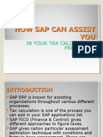 HOW SAP CAN ASSIST YOU in your tax calculation procedure