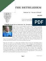 July Bethlehem Newsletter_2014