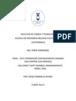 Sistema Ecvt y Cajas Dsg