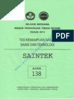 [Www.wangsiteducation.com]SAINTEK 138