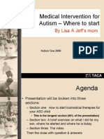 Medical intervention for autism where to start