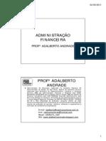 Administração financeira-AULAS 1,2,3
