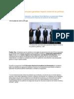 05-06-2014 Puebla Noticias - Fiscalización, necesaria para garantizar impacto social de las políticas públicas, ASF.
