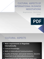 Cultural Aspects of International Business Negotiations