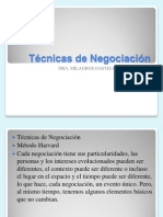 Negotiation Techniques Español