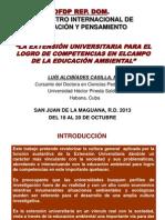 La Extensión Universitaria Para El Logro de Competencias