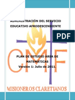 Plan Estudio Matemática Serv. Educativo