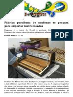 Fábrica Paraibana de Sanfonas Se Prepara Para Exportar Instrumentos