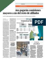 Independientes Pagarán Comisiones Mayores Al Resto de Afiliados_El Comercio 4-07-2014