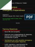 Campus Emergency Preparedness Overview