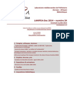 LAMPEA-Doc 2014 - numéro 24 / Vendredi 4 juillet 2014