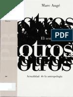 Auge Marc - El Sentido de Los Otros. Actualidad de La Antropologia-libre