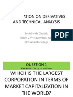 Presentation on Derivatives and Technical Analysis