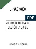 AUDITORIAS OHSAS 18001