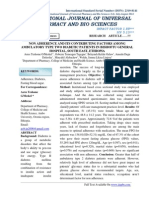 NON ADHERENCE AND ITS CONTRIBUTING FACTORS AMONG AMBULATORY TYPE TWO DIABETIC PATIENTS IN BISHOFTU GENERAL HOSPITAL, SOUTH EAST, ETHIOPIA