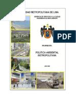 Proyecto Politica Ambiental de Lima Metropolitan