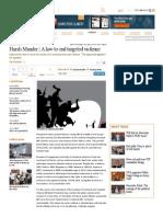 Harsh Mander _ a Law to End Targeted Violence - Livemint