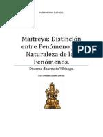 Maitreya Distinción Entre Fenómeno y La Naturaleza de Los Fenómenos.