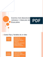 7.-Costeo Por Absorcion, Costeo Variable y Analisis