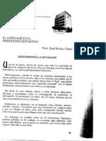 El Lenguaje en El Periodismo Deportivo (1)