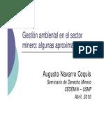 Dr Augusto Navarro Gestion Ambiental Minera
