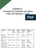 EXEMPLO - Tarifas - Fator de Potencia