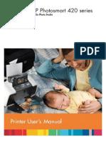 Hp Photo Smart 420 User Manual