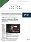 01-07-14 PAN Actúa Con Incongruencia en Leyes Electorales