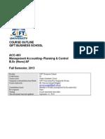 Management Acct Planning & Control