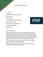2 Dia Curso de Massas Artesanais e Molhos Por MÃ_rcia Guarani KaiowÃ