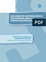 INFD -Documento Metodológico Investigación