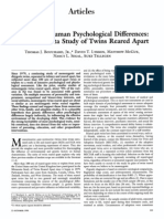 Sources of Human Psychological Differences Twins Reared Appart Thomas Bouchard