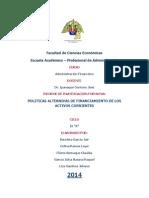 Politicas Alternativas de Financiamiento de Los Activos Corrientes