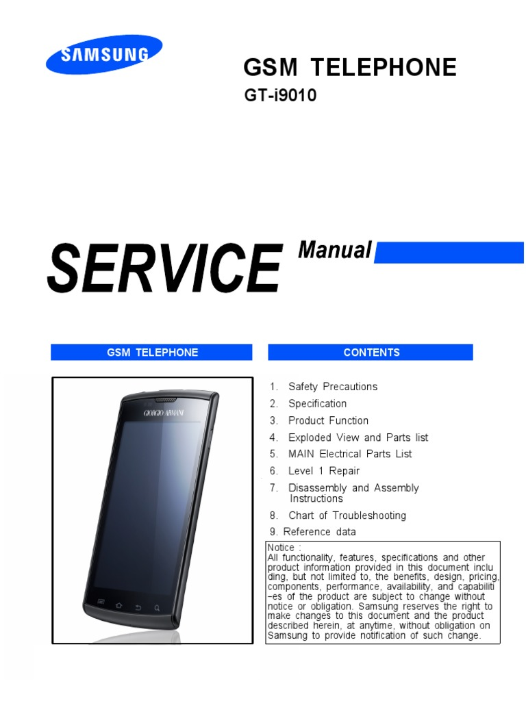samsung i897 i9010 service manual and schematics pdf rh scribd com Samsung Galaxy Tab 7 Tablet Samsung Galaxy Note 2