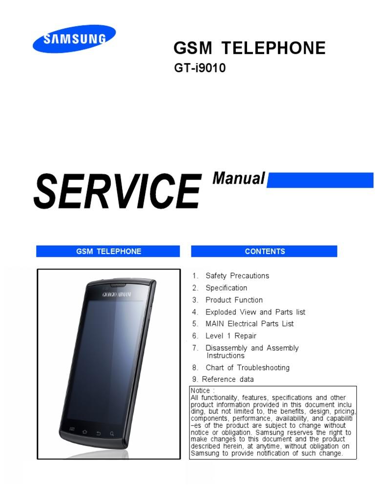 samsung i897 i9010 service manual and schematics pdf rh scribd com samsung syncmaster 710n service manual samsung 710n service manual