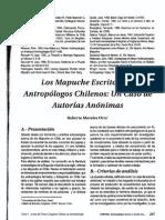 Morales, R 2000 Los Mapuche Escritos Por Antropologos Chilenos