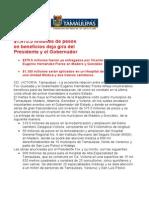com0725, 100506 Gira de Vicente Fox y Eugenio Hernández deja $1,475.5 millones de pesos.